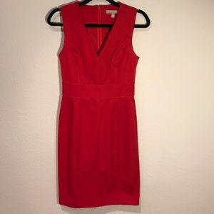 Banana Republic Red Dress W/ Pipping